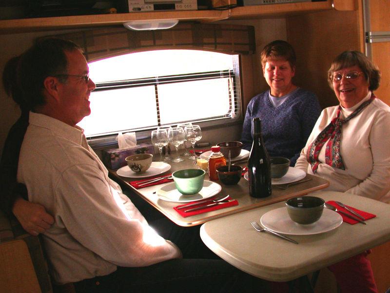 Trailer dinner party
